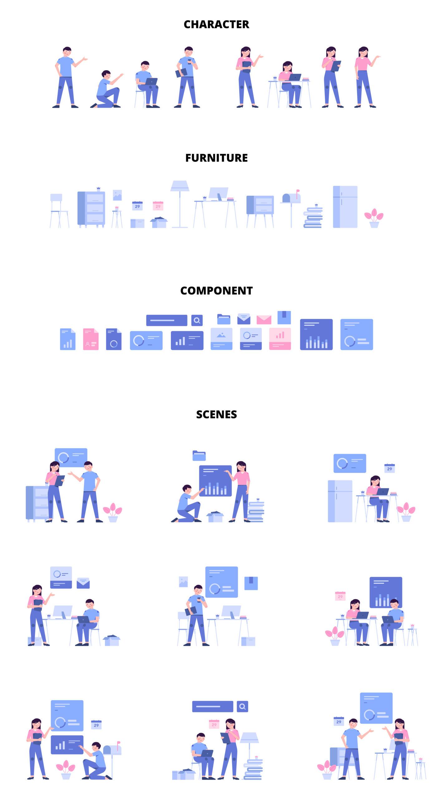 Bush模块化插画套件 Bush Modular Illustration Kit插图