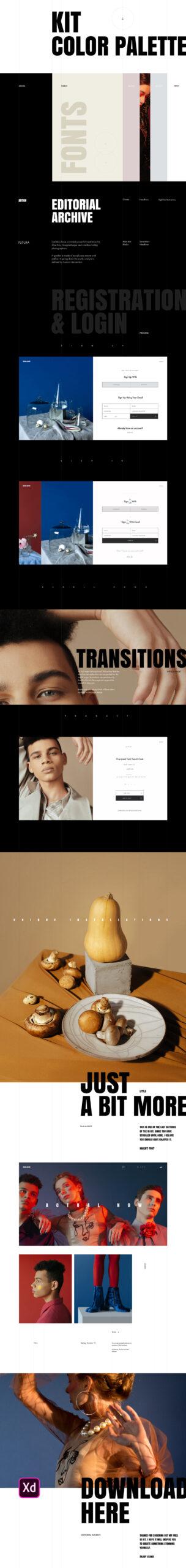 时尚编辑用户界面套件插图1