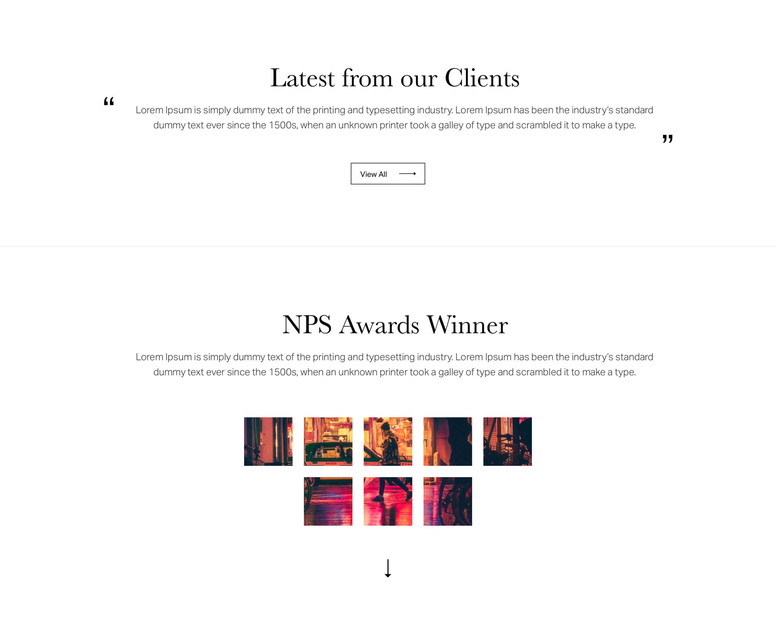 摄影师作品集网站设计模板插图1