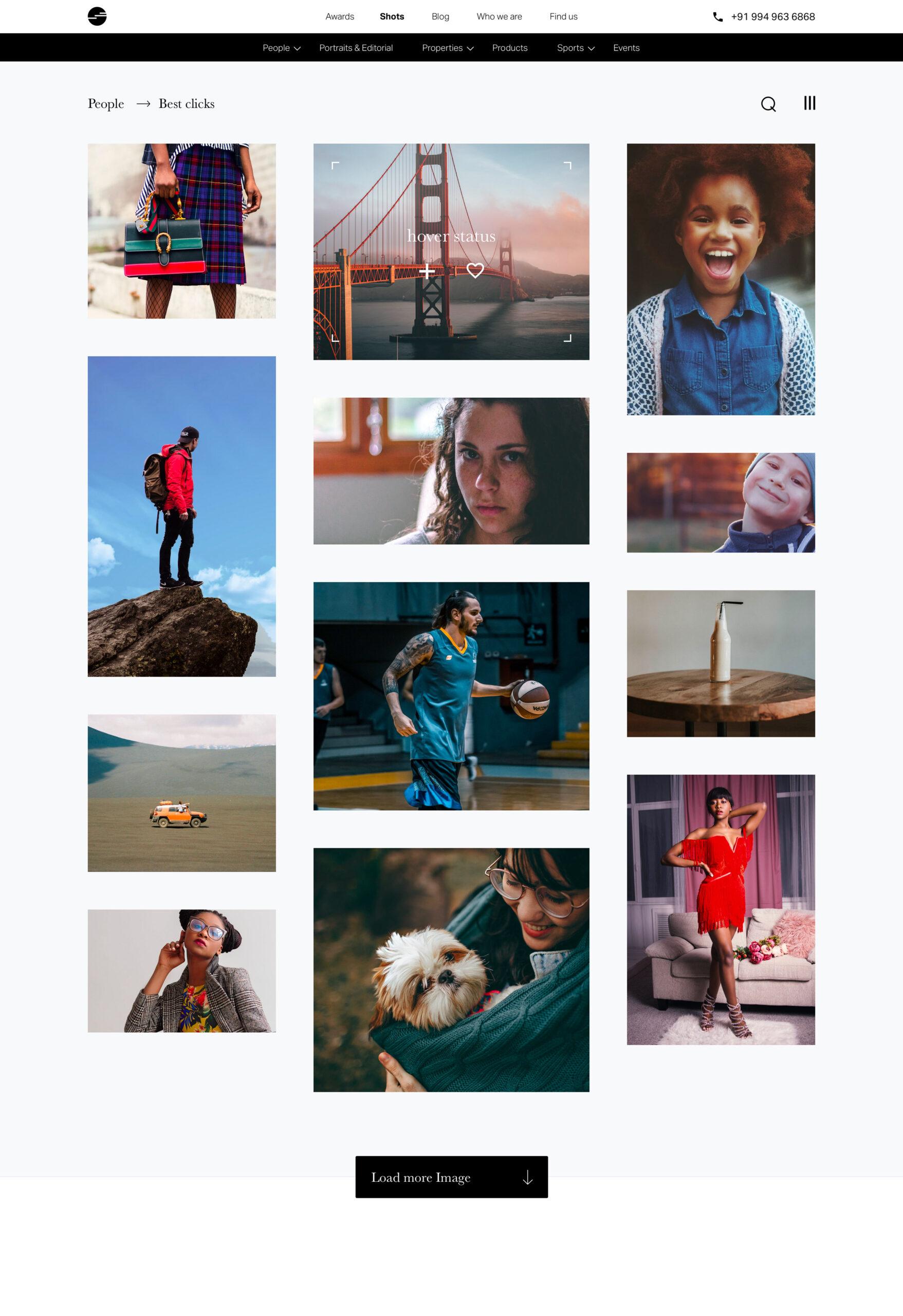 摄影师作品集网站设计模板插图3