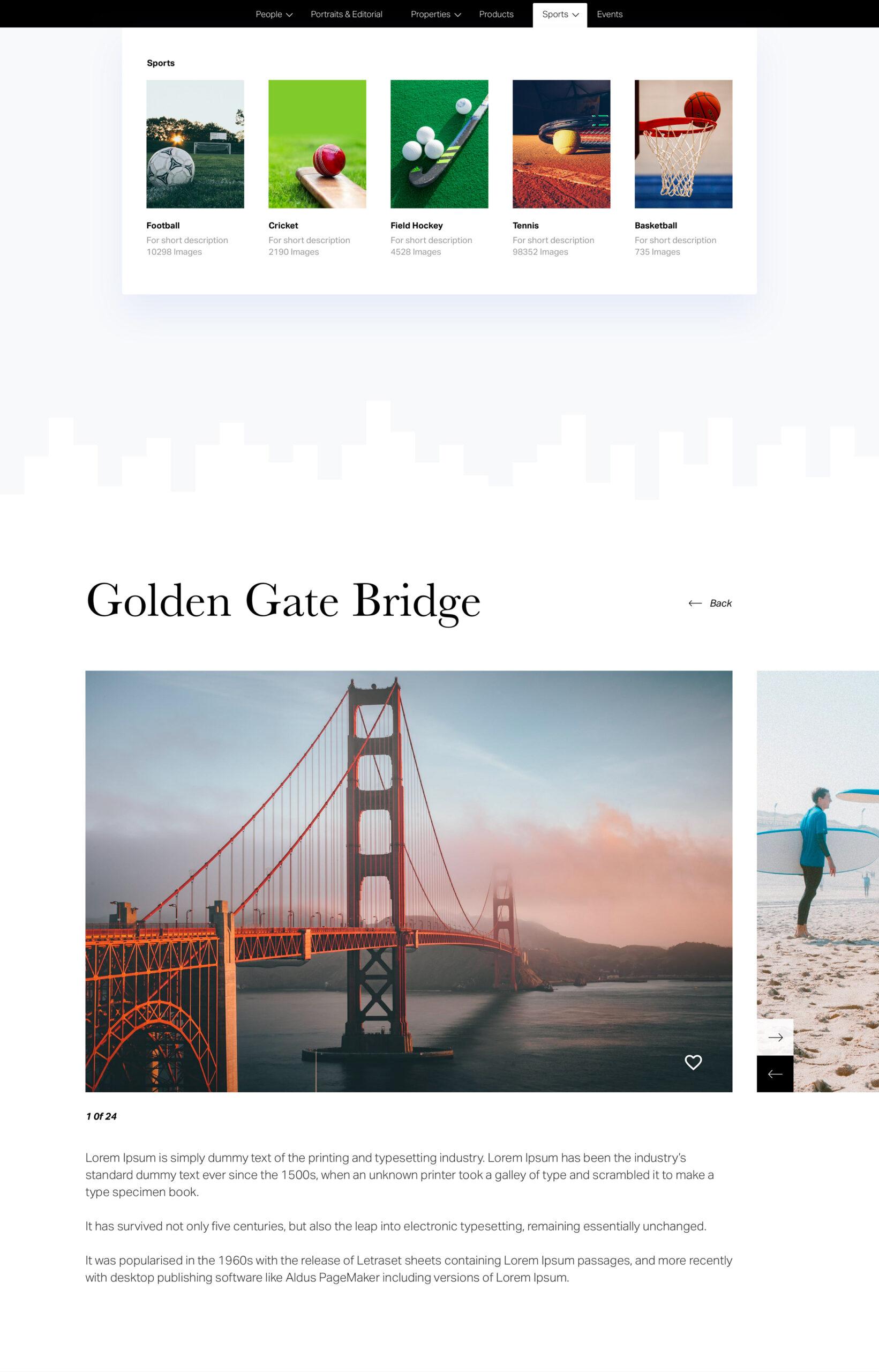 摄影师作品集网站设计模板插图4