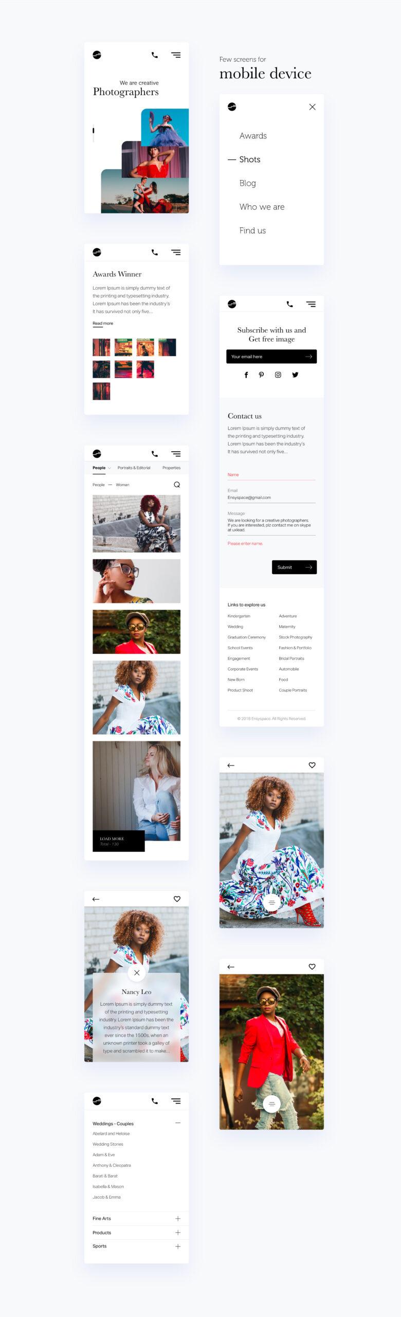 摄影师作品集网站设计模板插图5