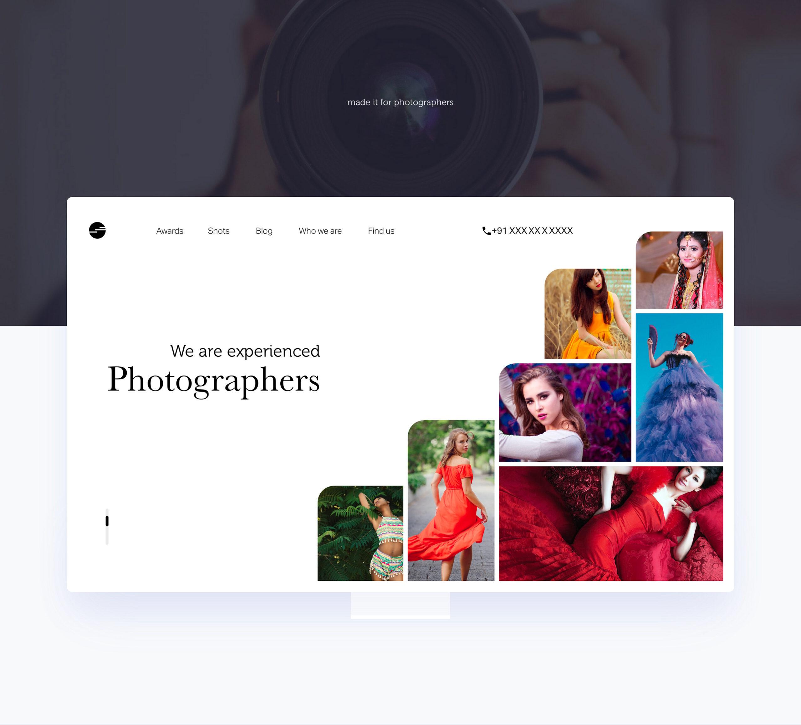 摄影师作品集网站设计模板插图