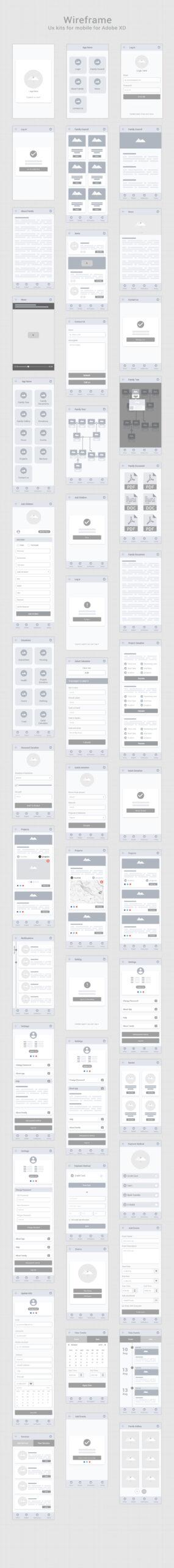 免费手机APP应用线框图插图
