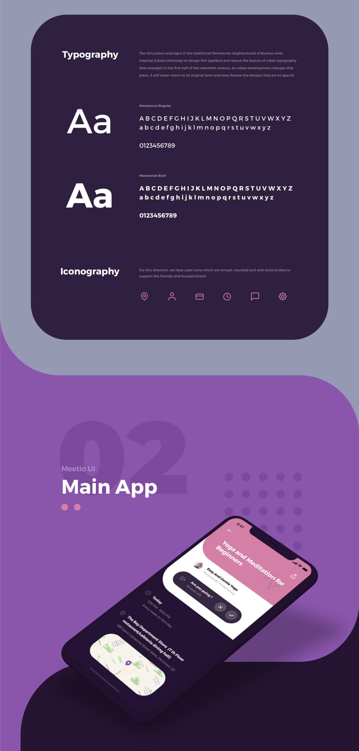 Meetio手机应用用户界面套件 Meetio UI Kit插图3