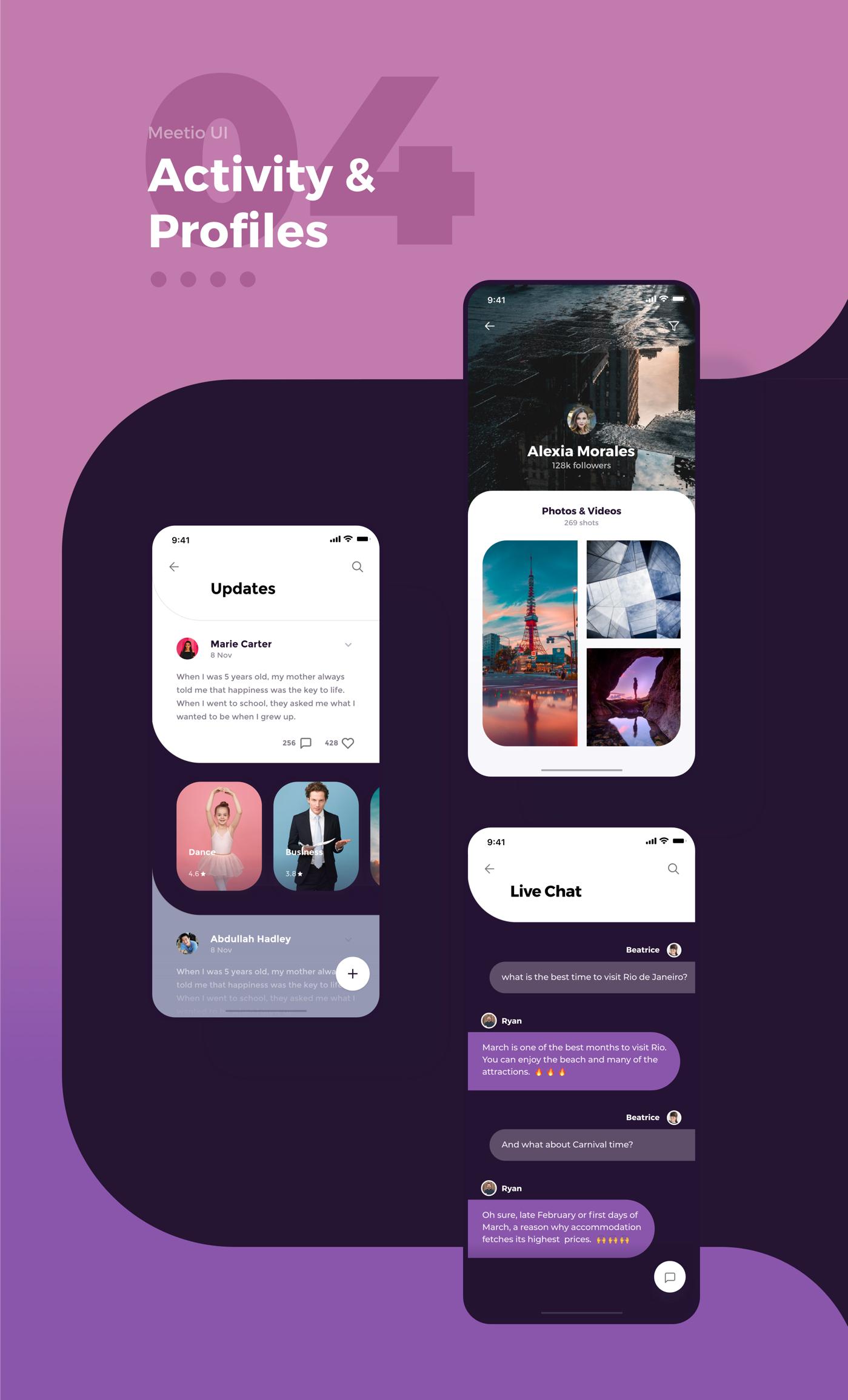 Meetio手机应用用户界面套件 Meetio UI Kit插图5