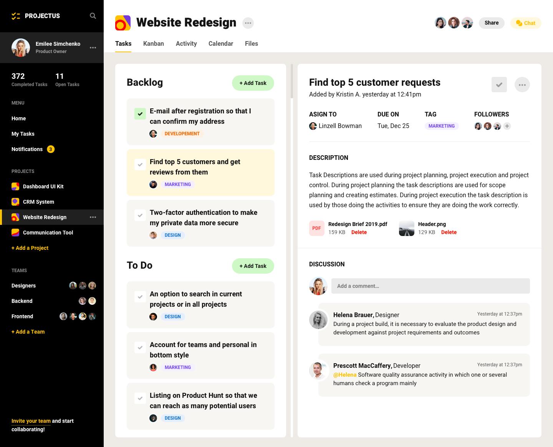 项目管理工具UI工具包插图