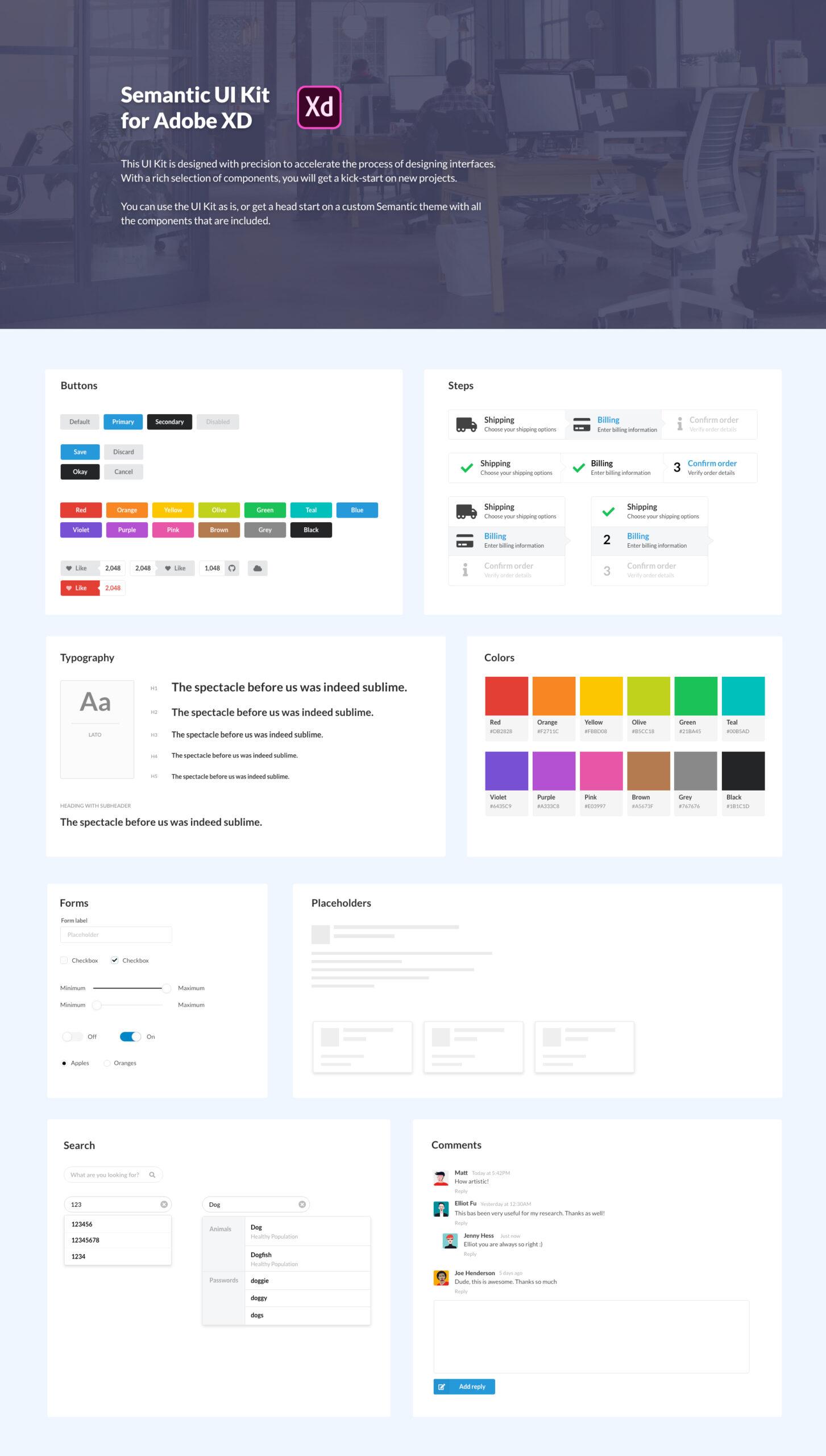 Semantic用户界面UI组件工具包插图