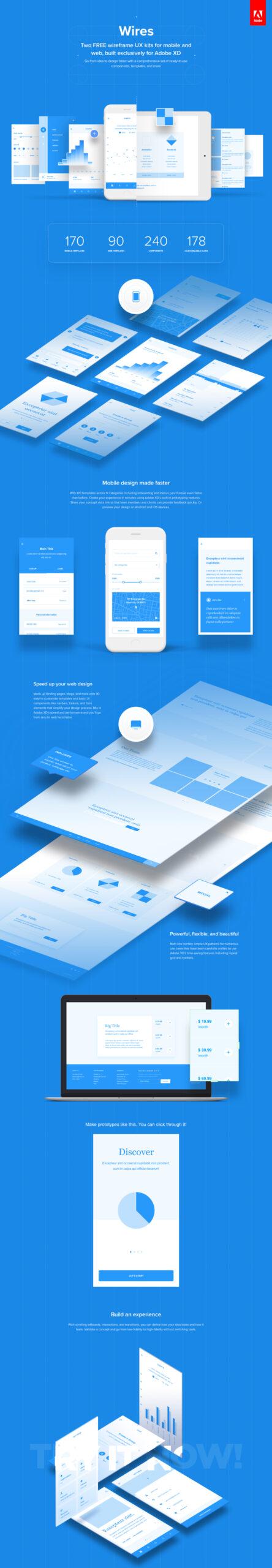 Wires – 免费APP&Web线框图设计套件插图