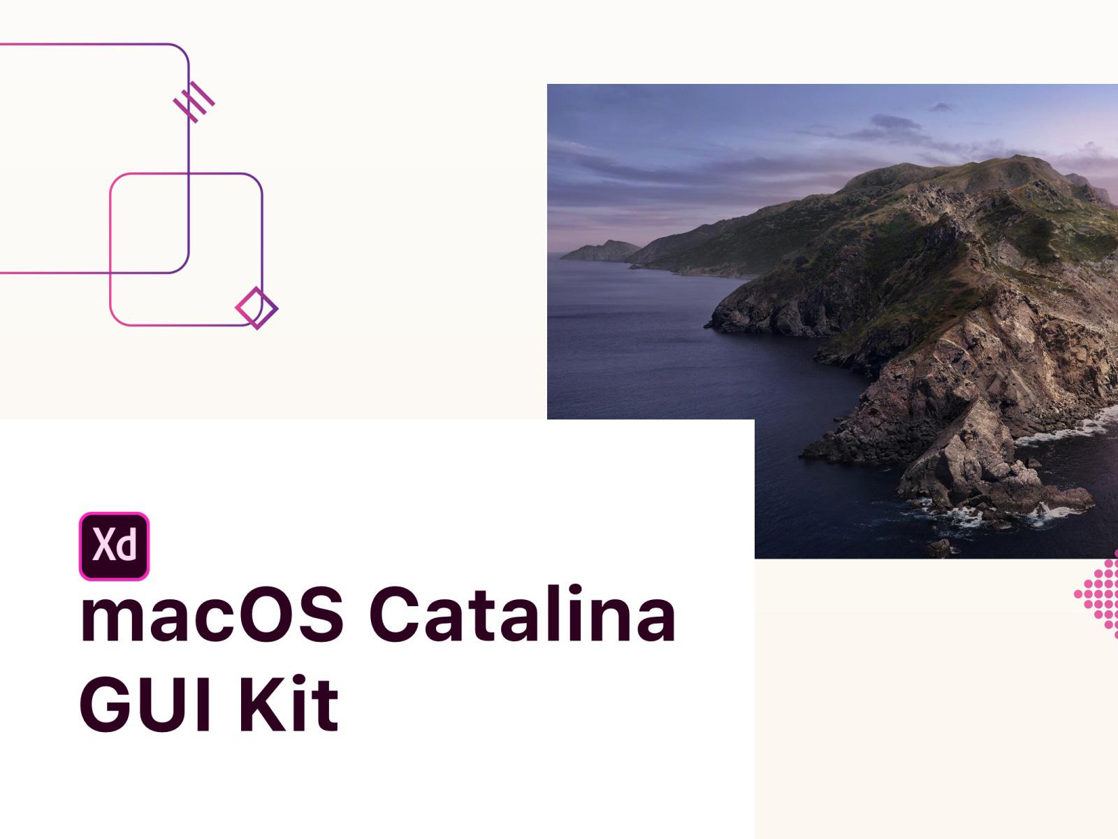 适用于Adobe XD的MacOS Catalina GUI设计模板插图