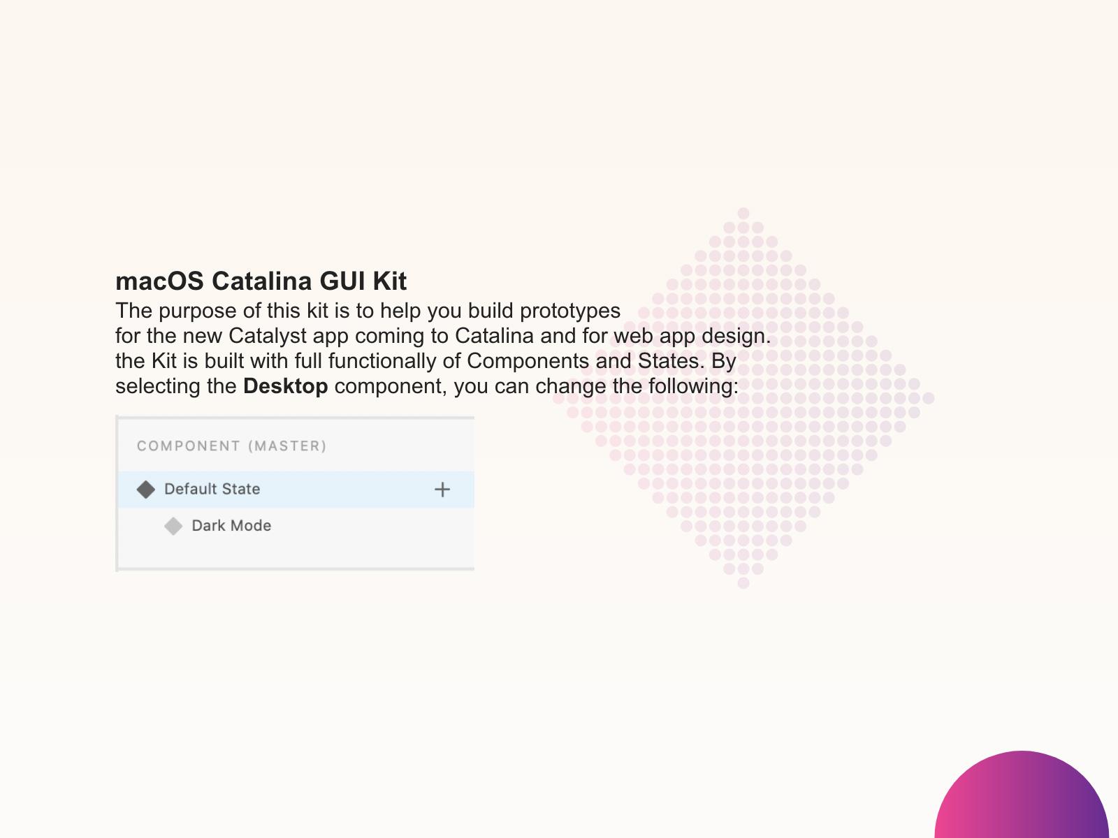 适用于Adobe XD的MacOS Catalina GUI设计模板插图1