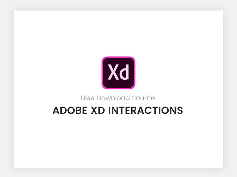 具有交互功能的免费Adobe XD模板插图