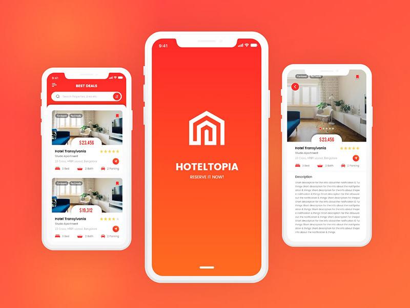使用Adobe XD制作的酒店管理App应用程序UI设计套件插图