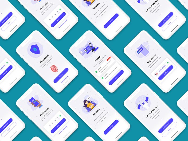 注册屏幕App引导页设计模板插图