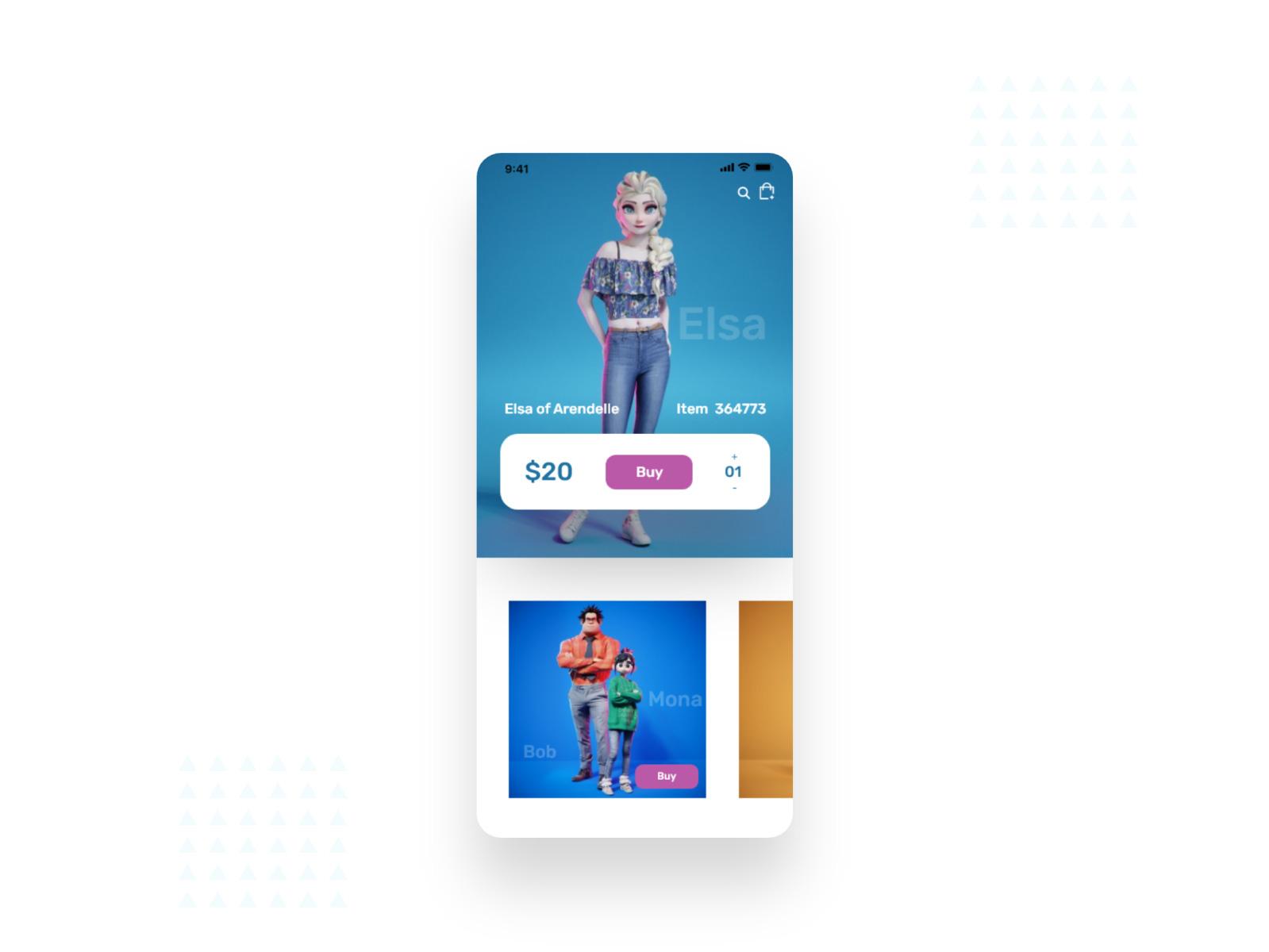 婴儿玩具商店应用程序设计套件插图2
