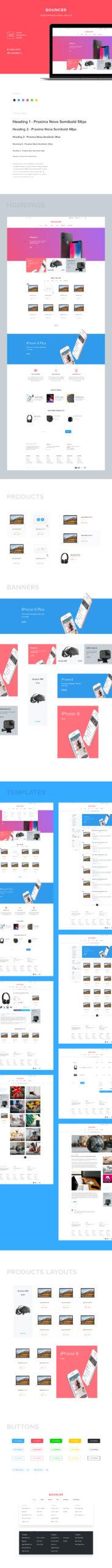 Bouncer-电子商务用户界面套件插图
