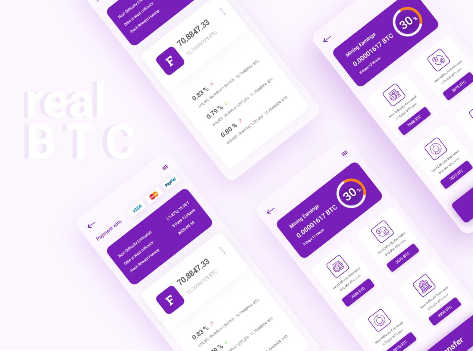 BTC钱包App应用程序设计模板插图4