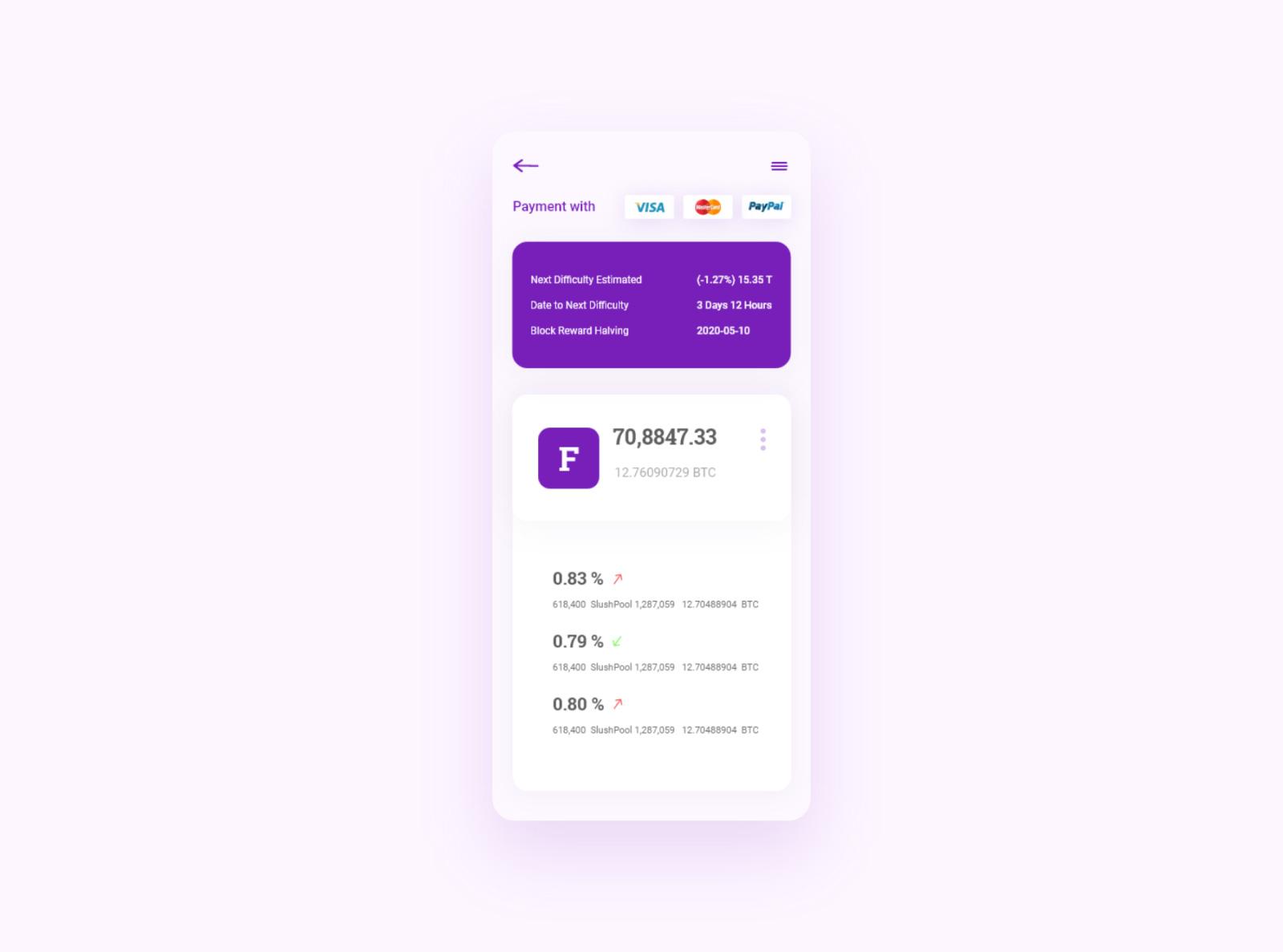 BTC钱包App应用程序设计模板插图1