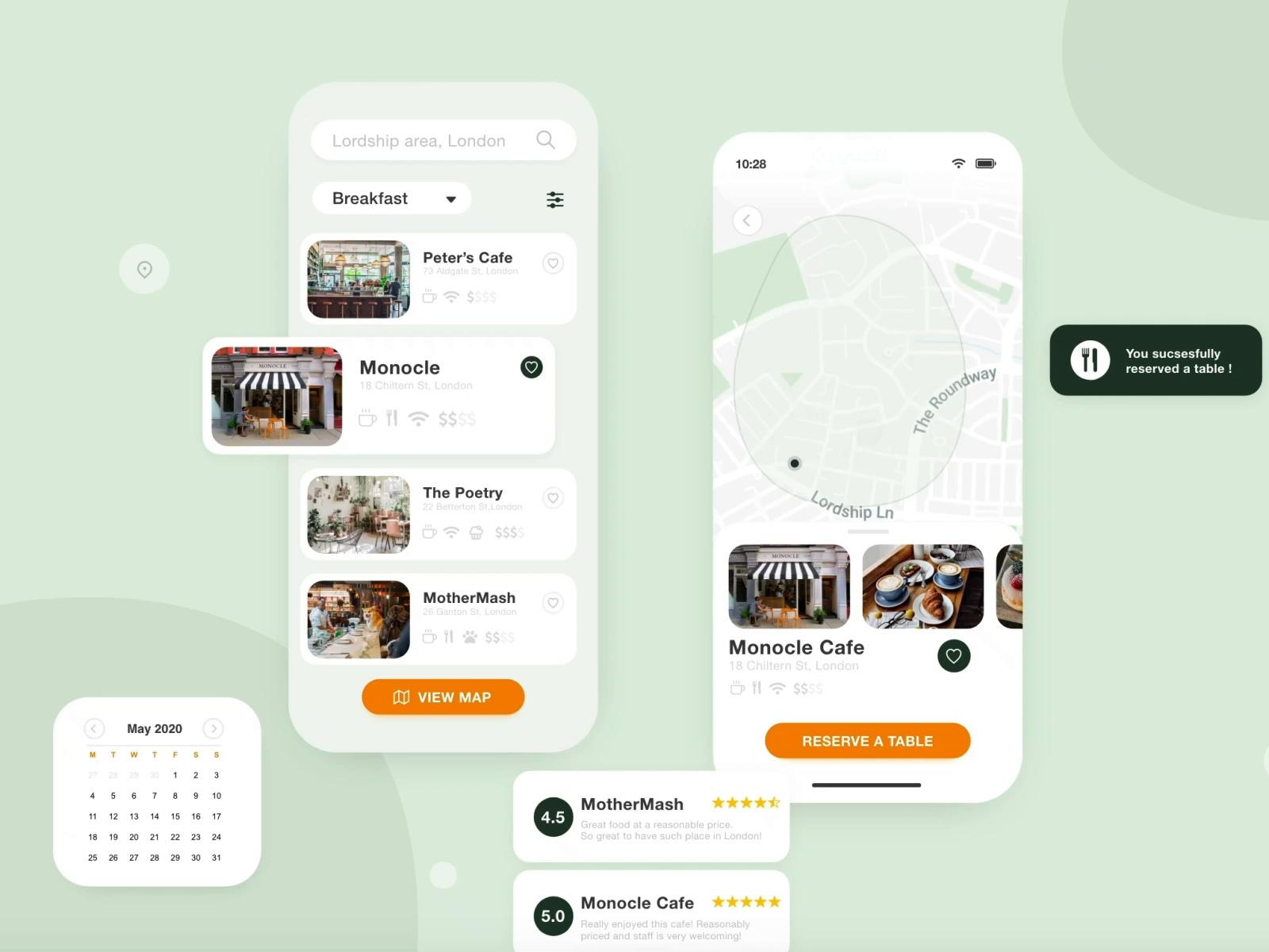 咖啡馆移动应用程序设计UI模板插图