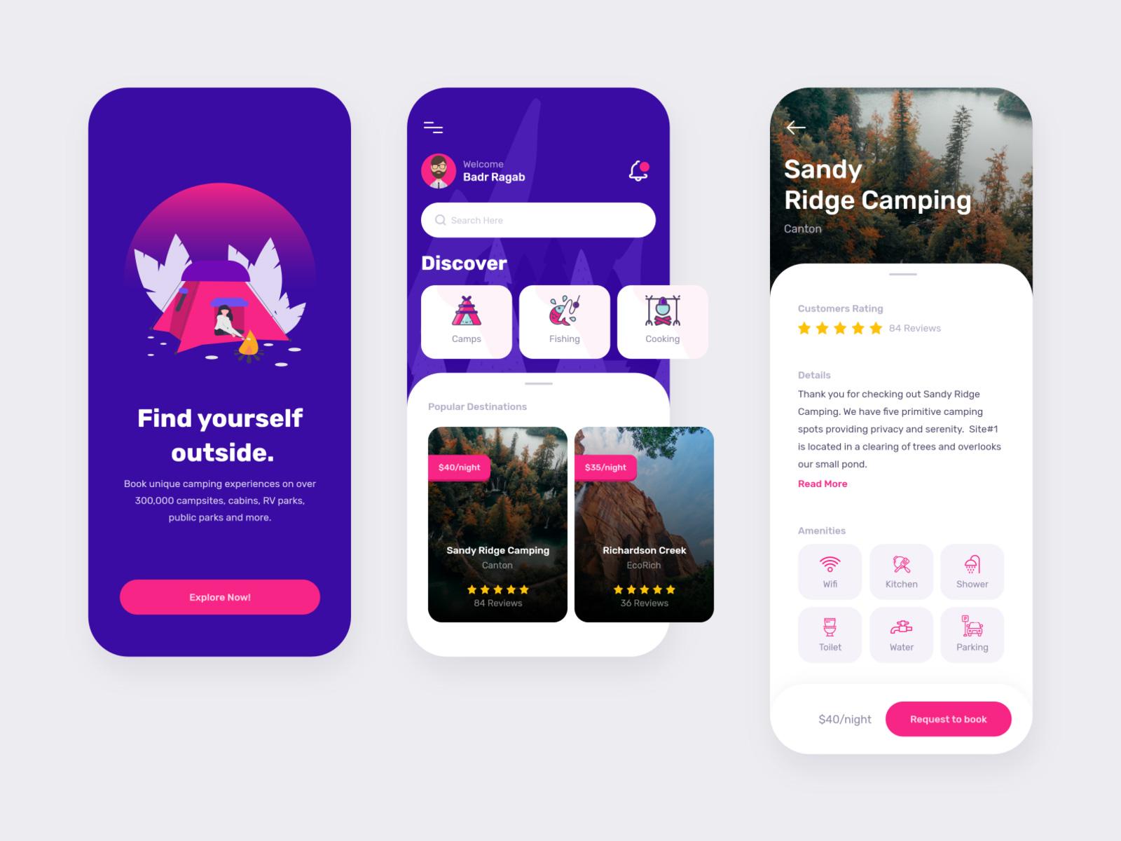 露营App应用程序设计套件插图