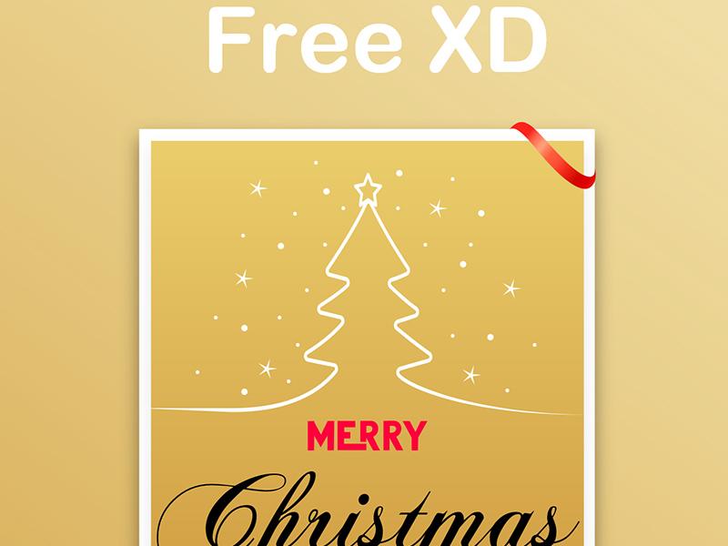 圣诞贺卡/卡片设计模板插图