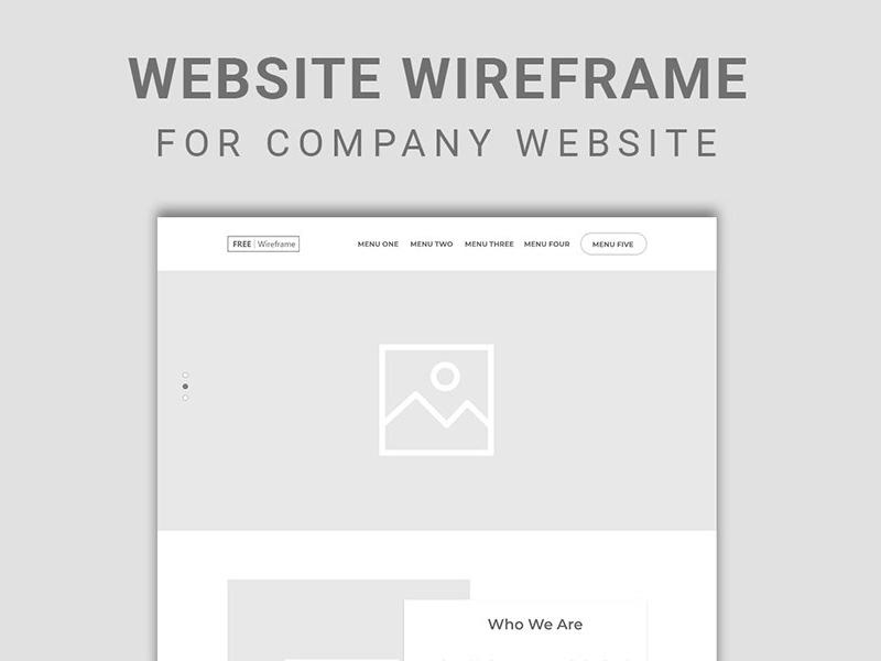 公司网站线框图UI套件插图