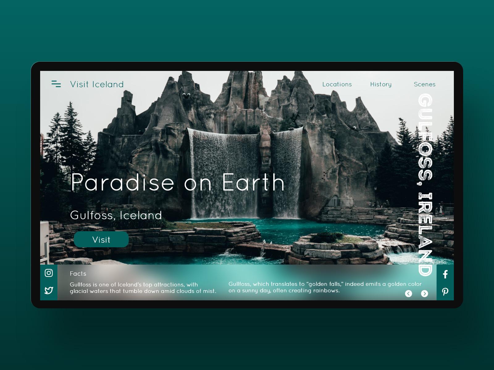 冰岛旅游网站着陆页模板插图