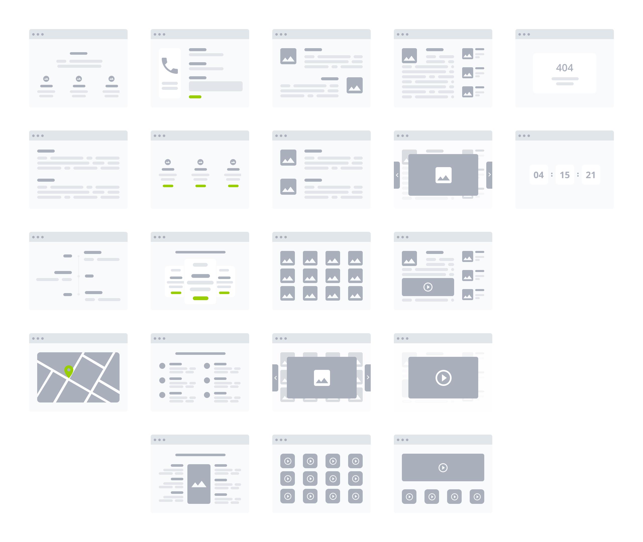 桌面产品设计流程图/线框图工具包插图