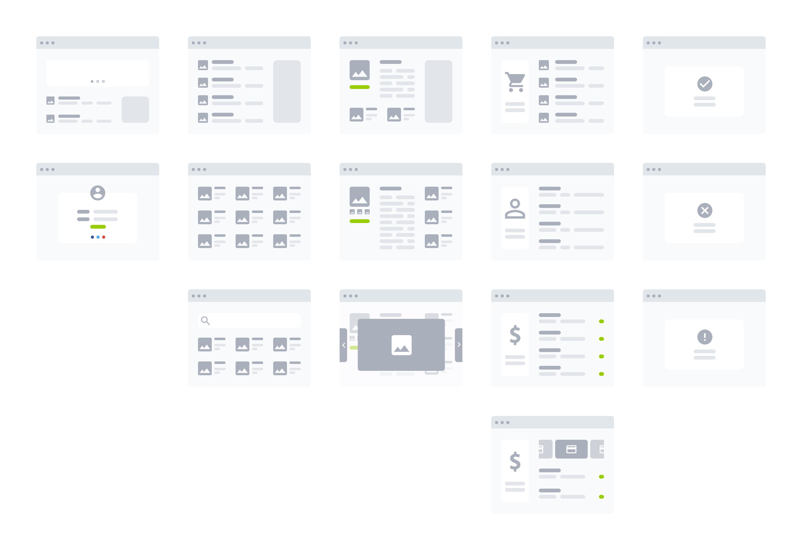 桌面产品设计流程图/线框图工具包插图3