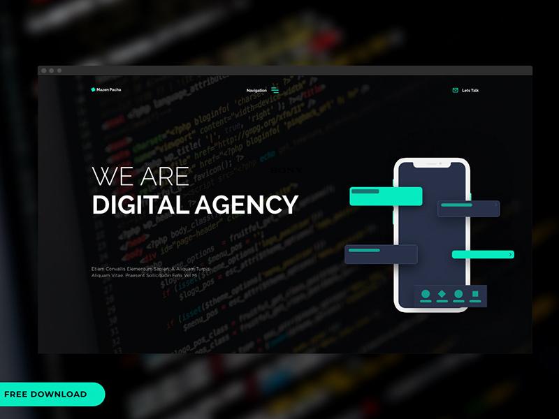 数字代理网站设计模板插图