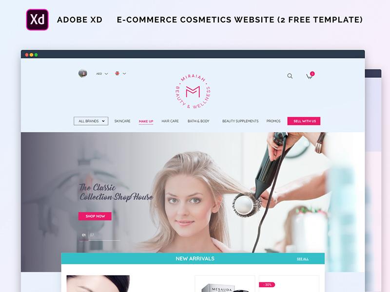 电子商务化妆品网站设计模板插图
