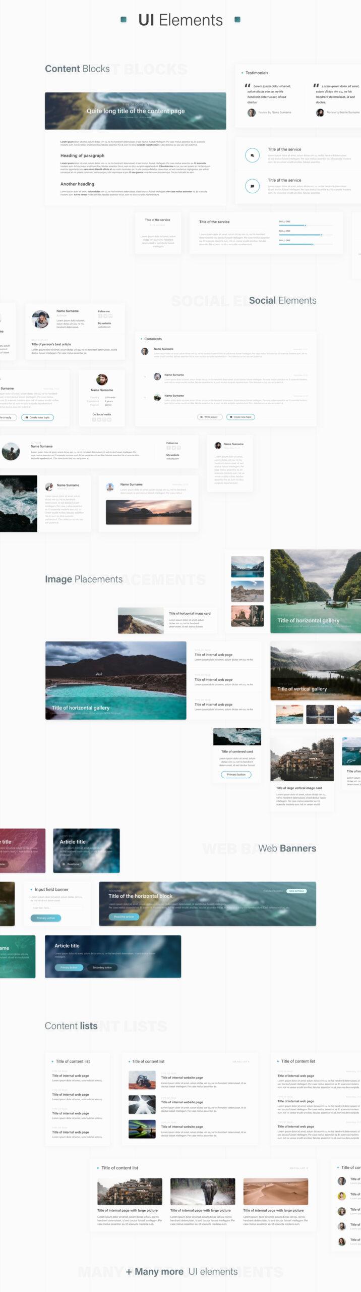 探险户外旅行主题网站免费用户界面工具包插图
