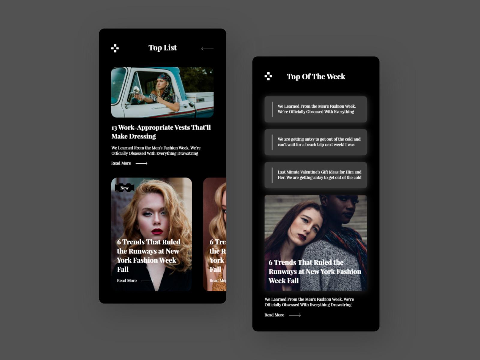 时尚App手机应用概念设计套件插图