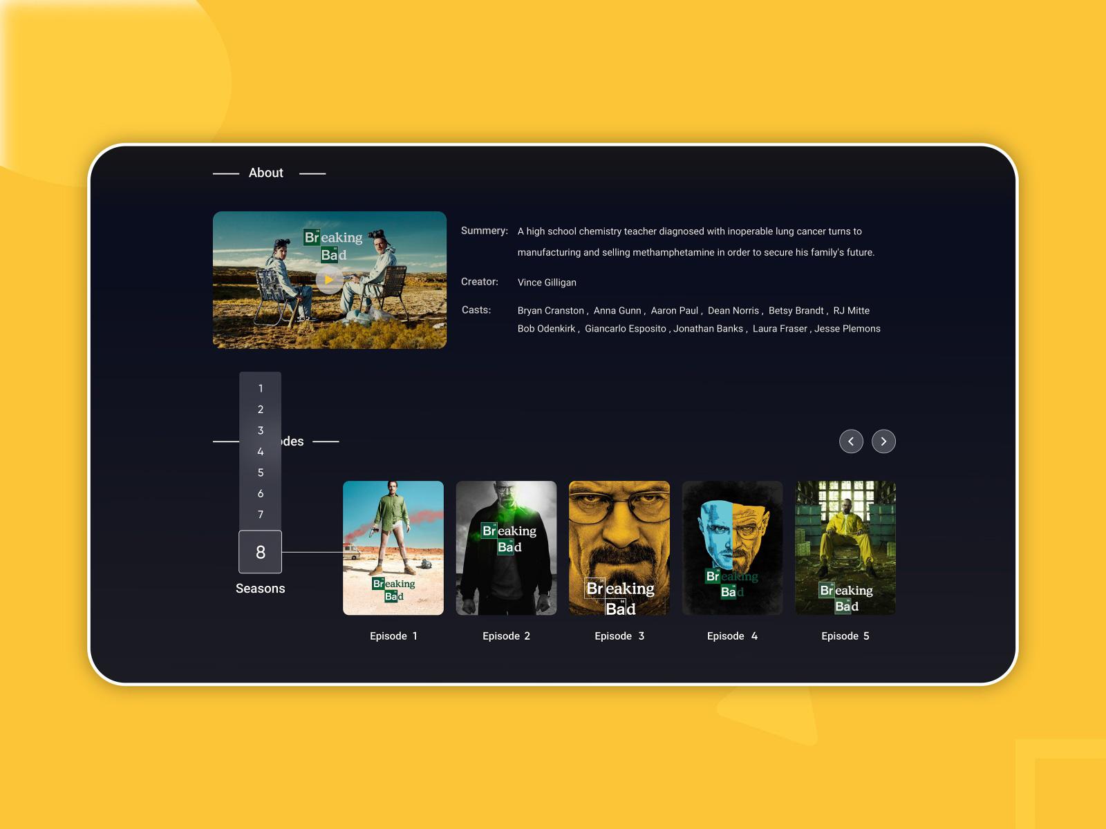 电影流媒体网站着陆页设计模板插图2