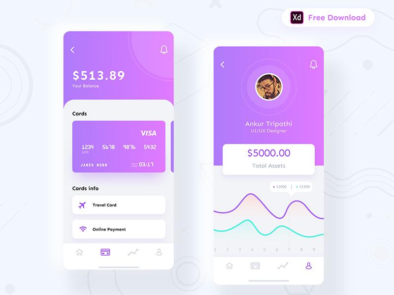 金融钱包App应用程序界面设计套件插图