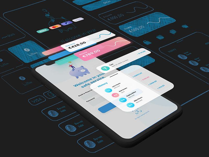 金融App用户界面UI套件插图