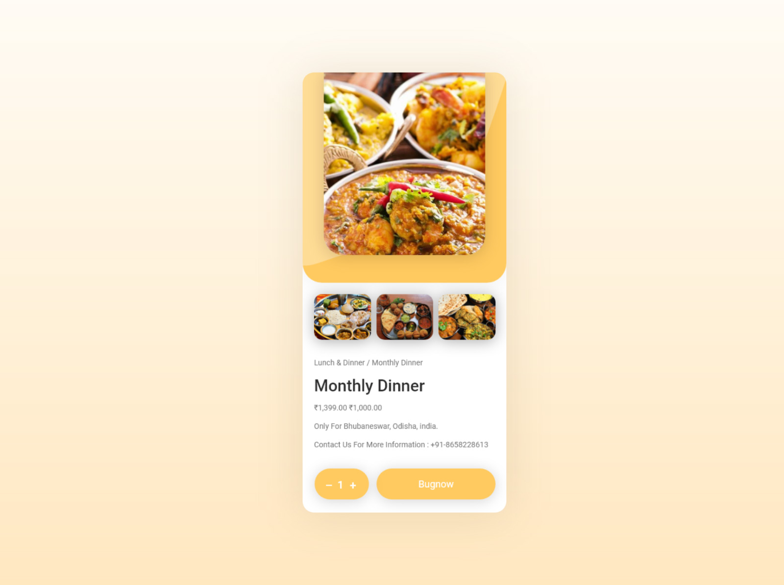 美食应用程序概念设计套件插图2