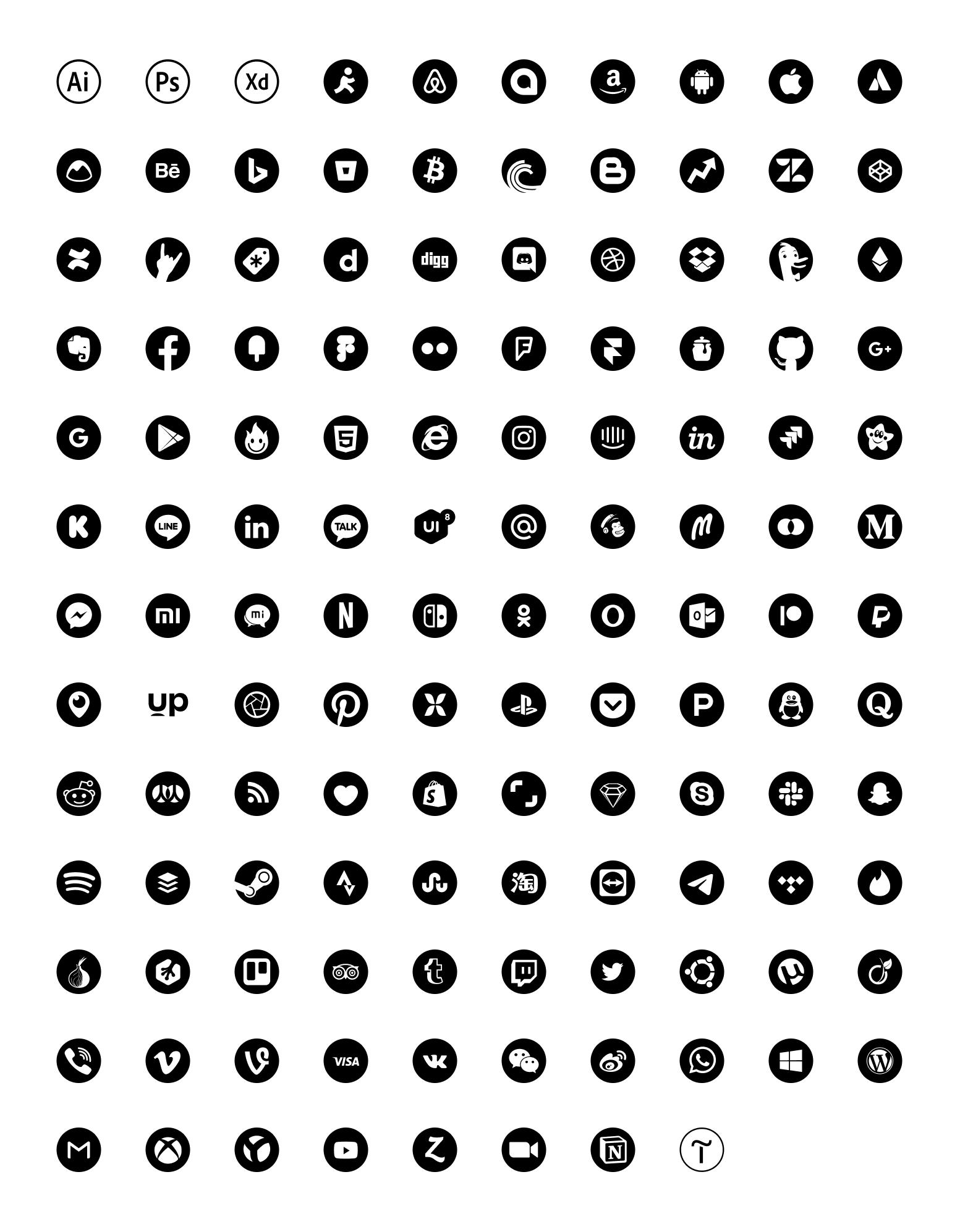 免费社交图标插图2