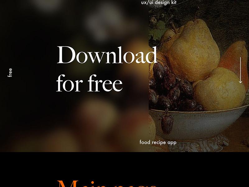 食品食谱App用户界面设计UI套件插图