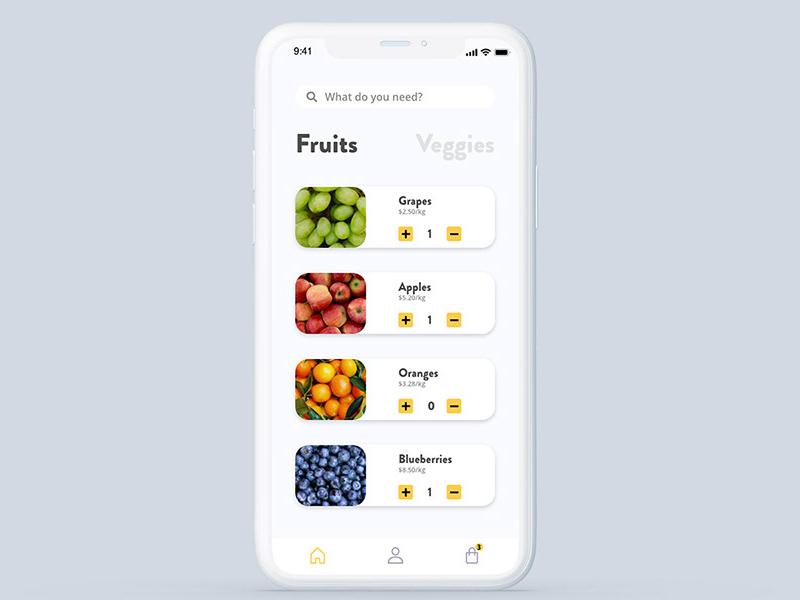 蔬果配送应用程序设计套件插图