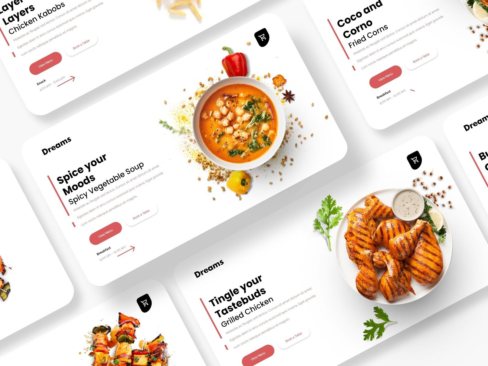 食品网站标题设计模板插图