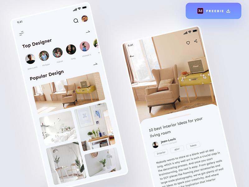 室内设计应用程序界面UI套件插图