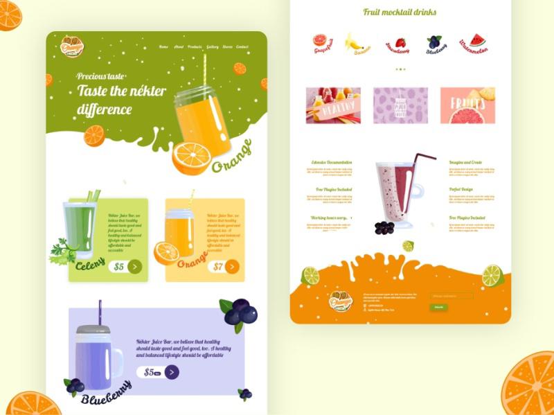 健康果汁电商网站模板插图