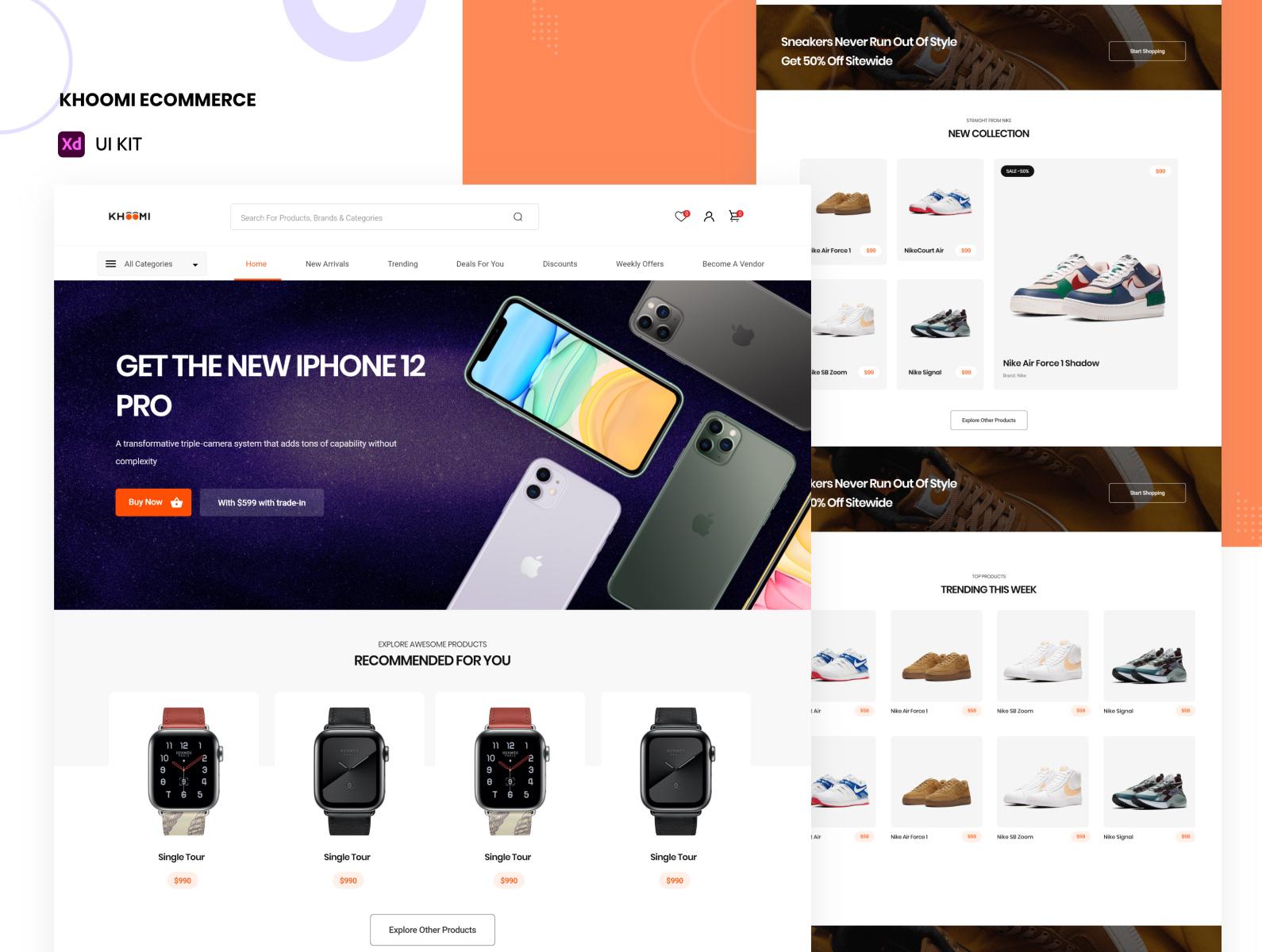 电子商务网站设计模板插图