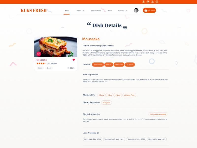 健康食谱网站页面设计模板插图1