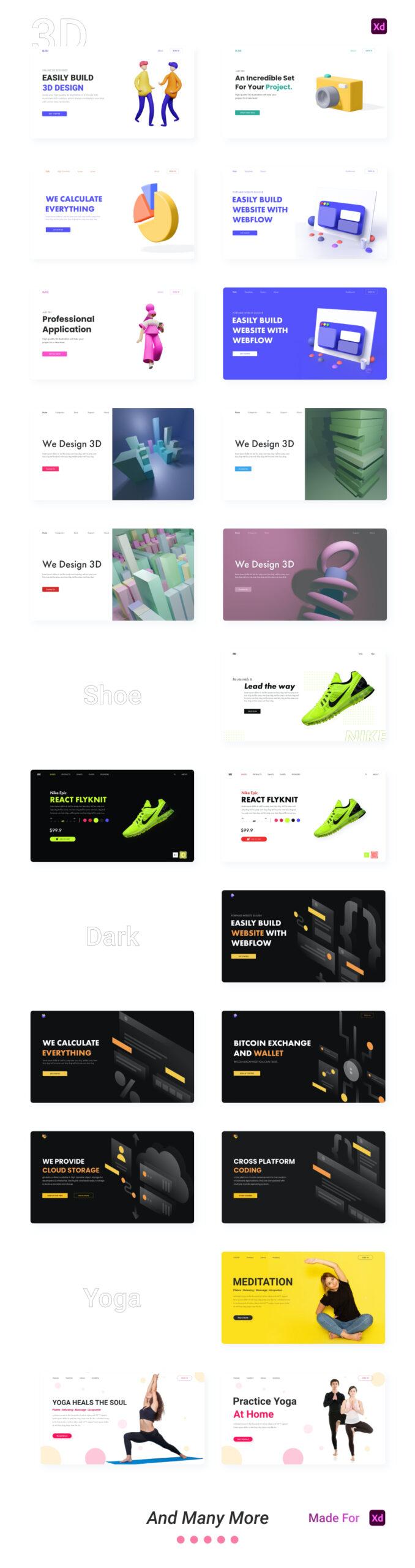 现代设计风格网站着陆页设计模板插图