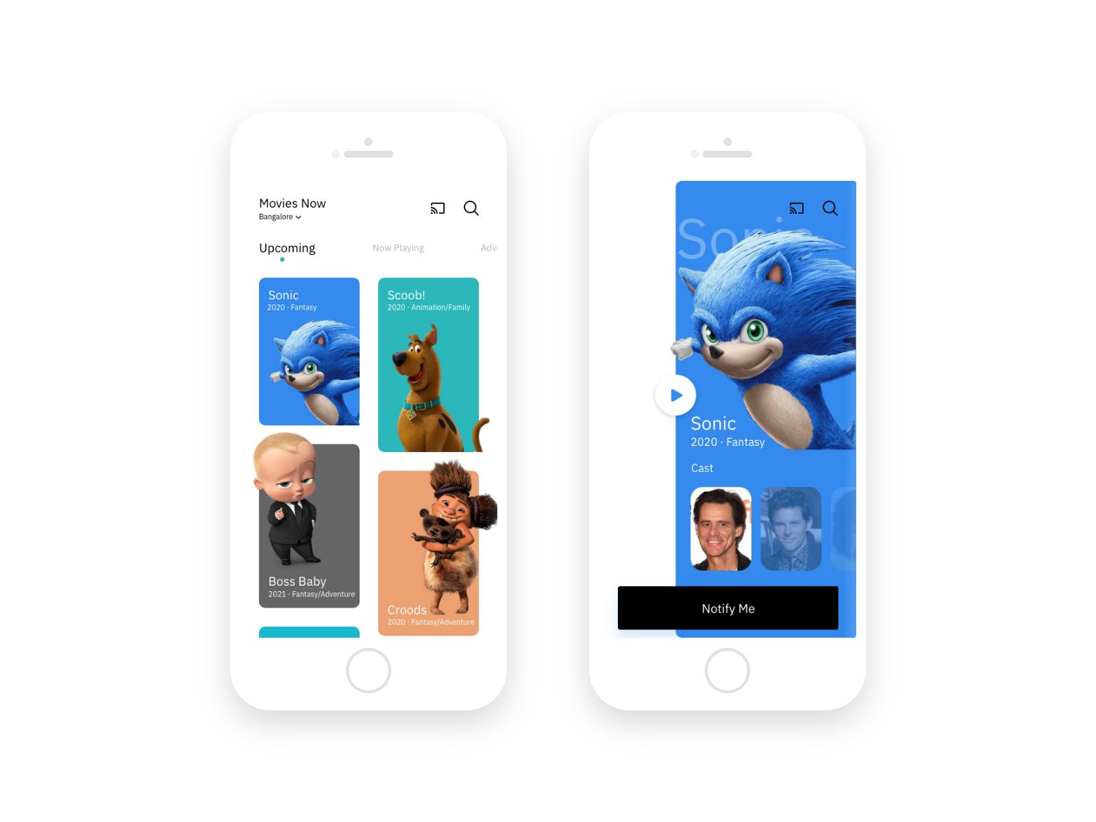 电影App应用程序UI/UX设计套件插图