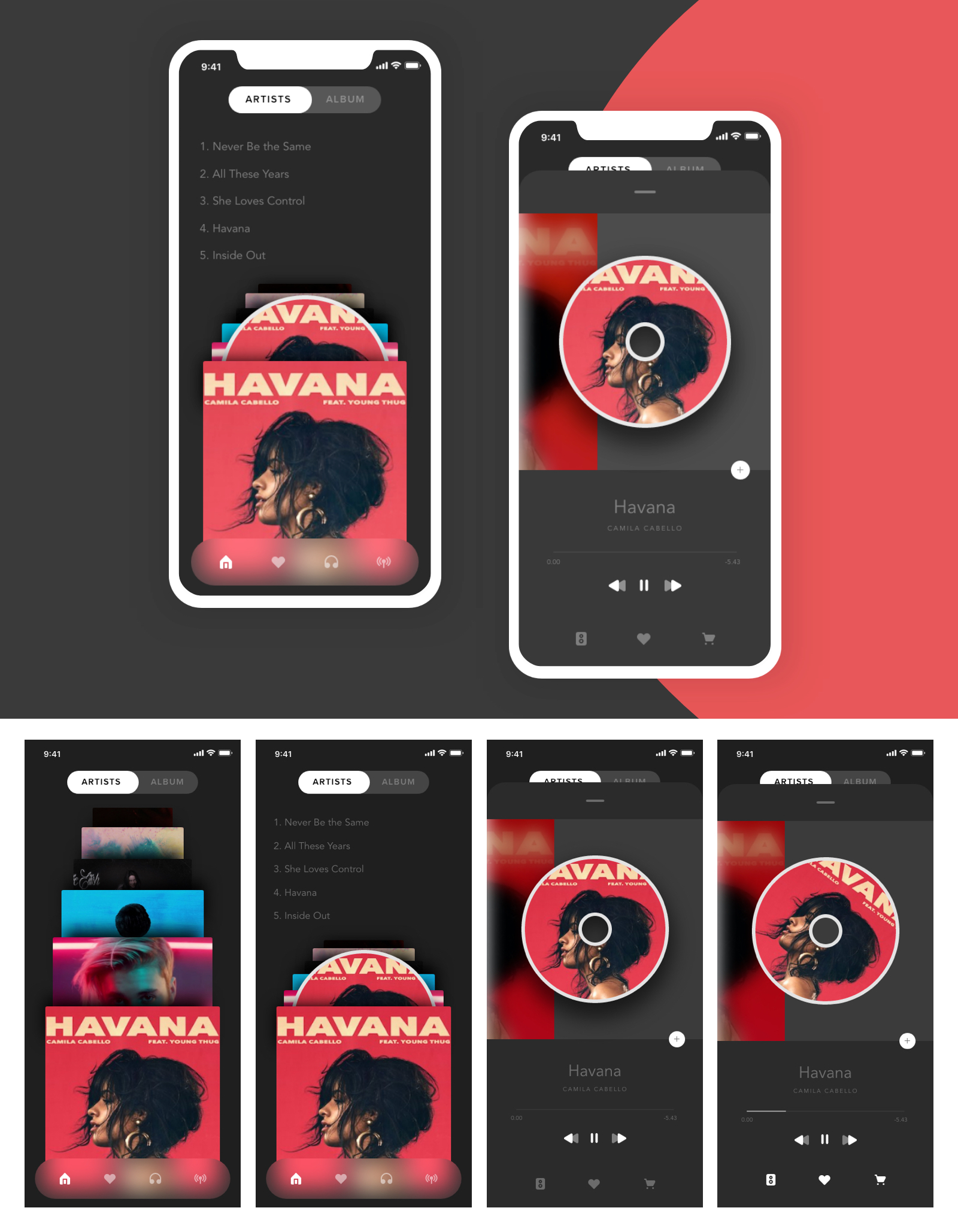 在线音乐播放器应用UI设计插图