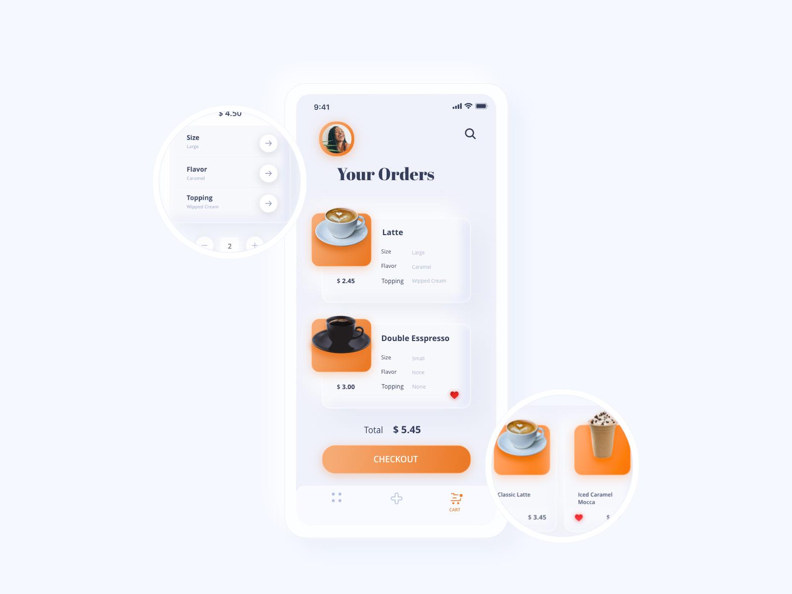 咖啡和饮料App应用程序界面设计UI模板插图2
