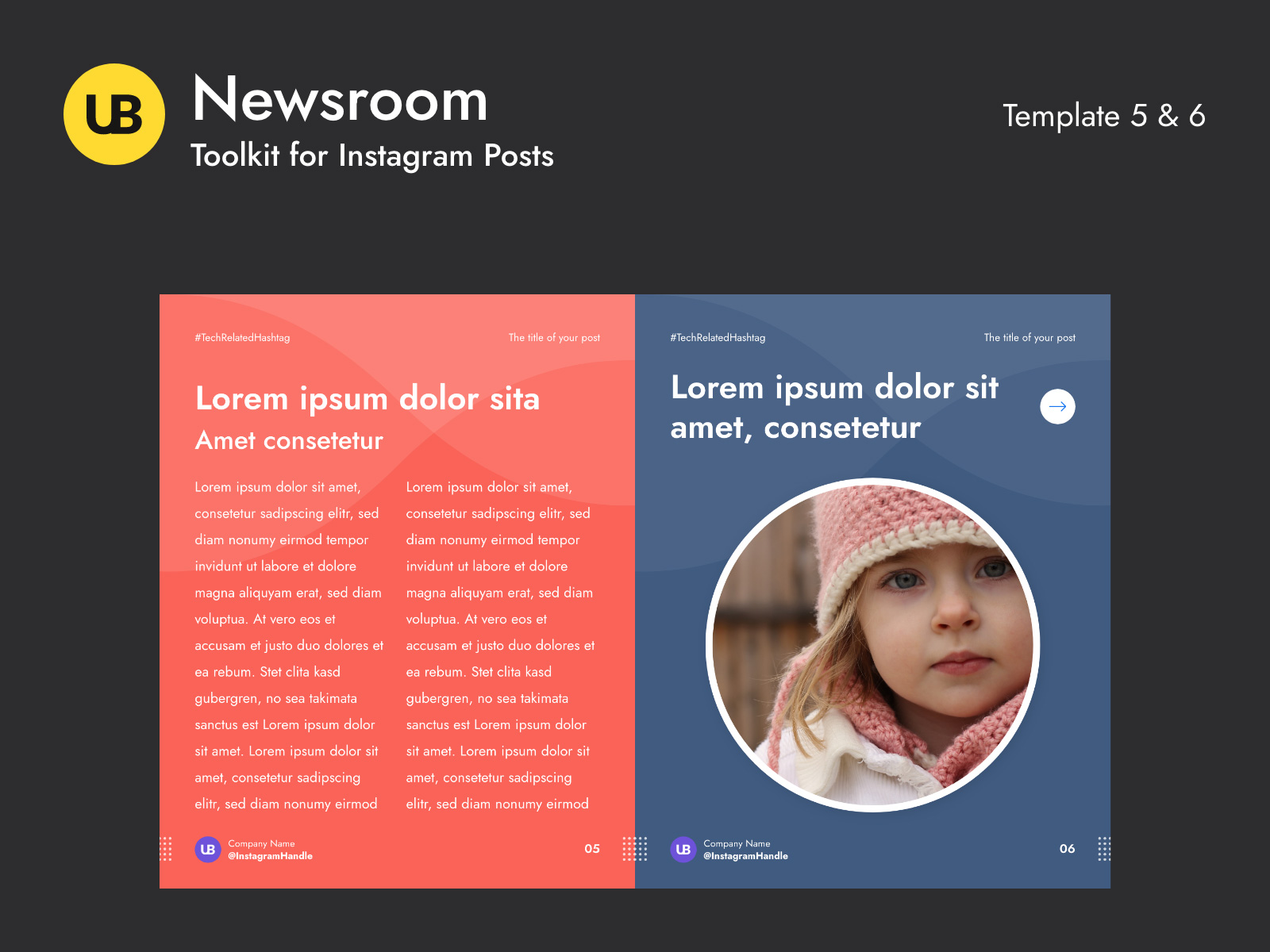 Newsroom-Instagram帖子模板插图3